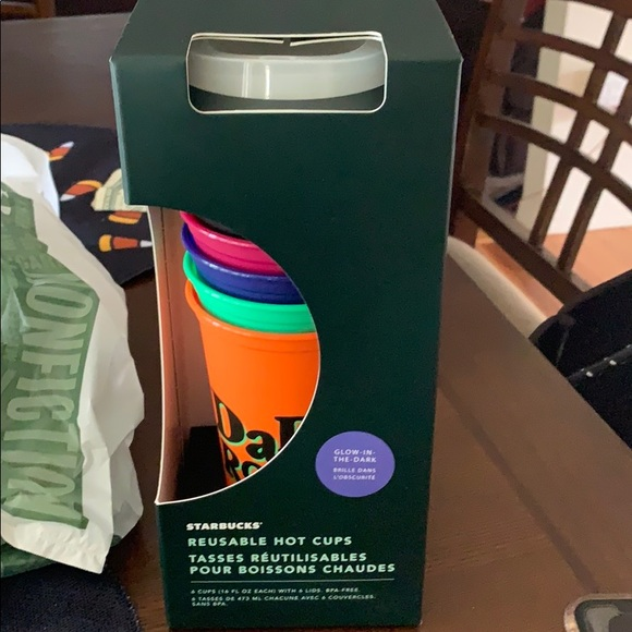 Starbucks Other - Starbucks Halloween glow in dark cups new